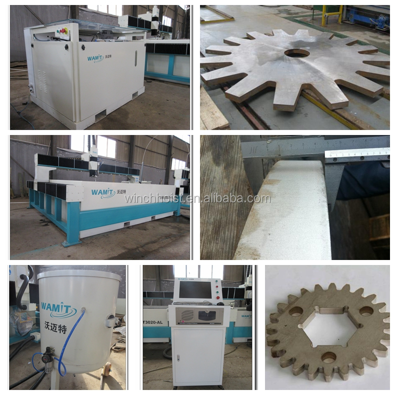 1500*2500mm size bridge type 420mpa high pressure 150mm carbon steel small CNC water jet cutting service machine