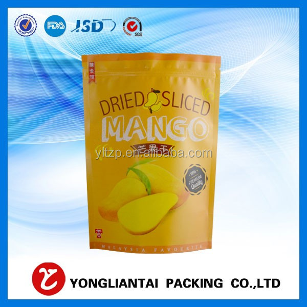 Shenzhen packaging ziplock zipper bag stand up pouch with resealable zip for food supplements