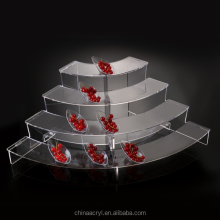 custom clear acrylic dessert display stand