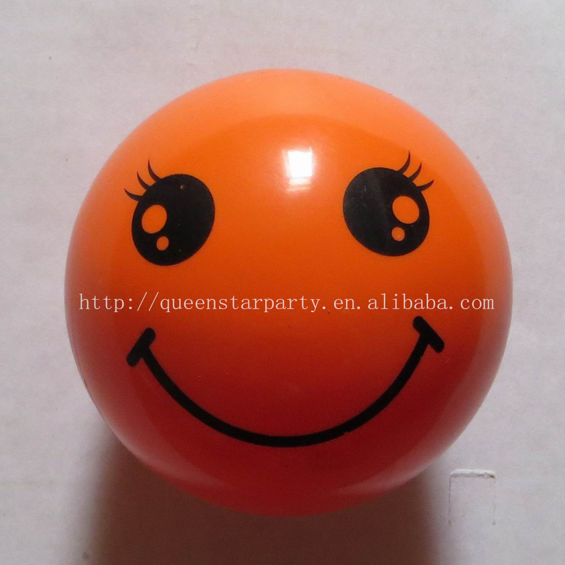 Most popular cheap Spray design ball Smile face printing plastic pvc toy ball