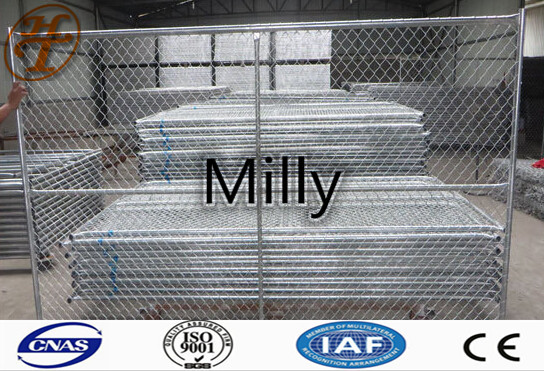8feeTemporary-chain-link-fence-panel-portable-fence,Portabl panel fence hot dip galvanized 8x12 feet temporary chain link fence