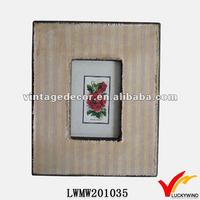 latest rose picture handmade Photo Frames with nature linen cover