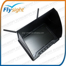 "C732 5.8G Battery Powered 7"" HD LCD FPV Monitor No Blue Screen 32CH Dual Receiver for DJI/Boscam/Immersion/Fatshark, OEM welcome"