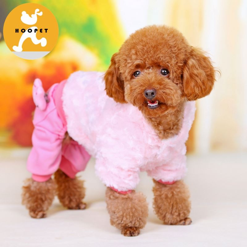 Cute pink hoodie pet coats for small dogs winter clothes wholesales