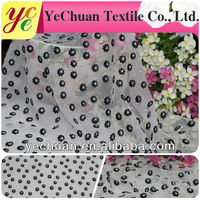 Fancy flower organza nylon polyester mesh embroidery fabric