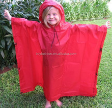 Cheap Custom Pattern Printed Kids Children Rain Ponchos