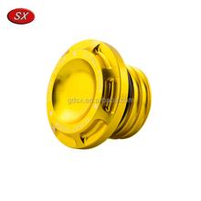 Aluminum Golden Motorcycle Fuel Gas Tank Oil Cap