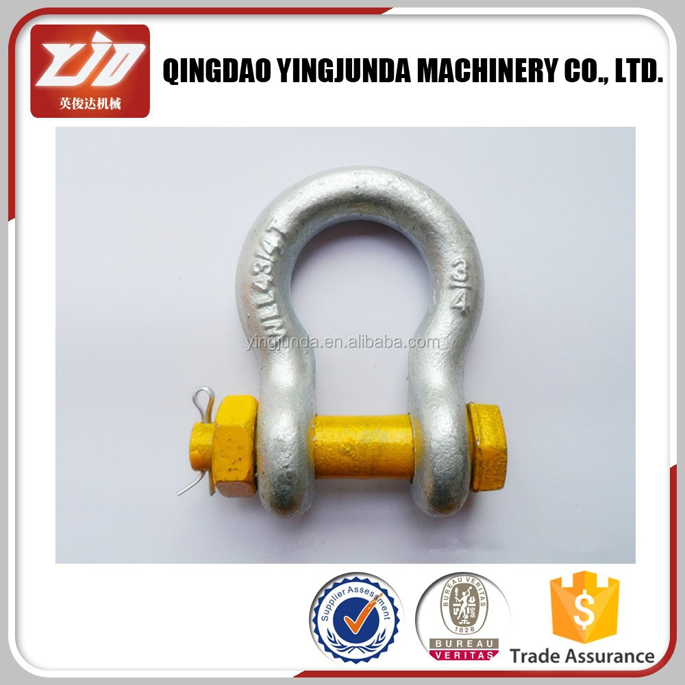Metal us type bow shackle