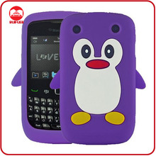 Wholesale Popular Penguin Stylish 3D Animal Rubber Gel Case for Blackberry Curve 8520/8530
