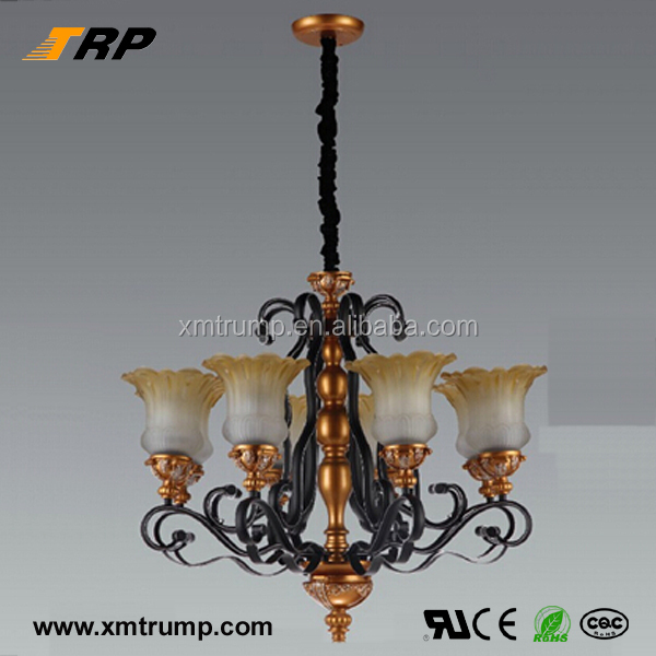 Large european style decorative hanging bronze chandelier dress room light