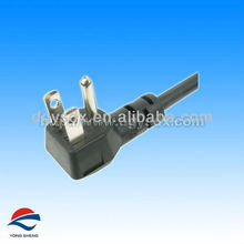 right angle ac power cord with ul approval