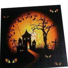 halloween led canvas Light up frames photo wall art,LED framed art painting home wall decoration