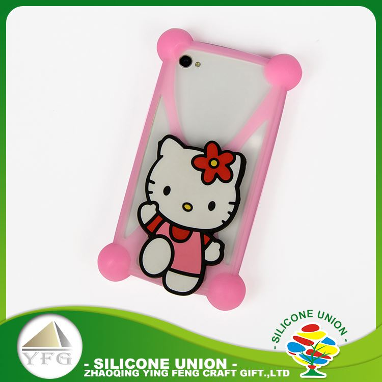 Exquisite workmanship silicone 3D cross shape cartoon 5.5 inch mobile cell phone case