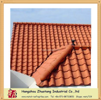 light weight classic type Clay tile color stone coated metal roof tile