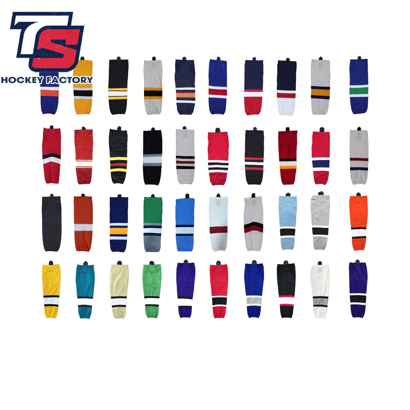 Shin Guards Boston Bruins/Chicago Blackhawks Youth Cheap Custom Ice Hockey Socks