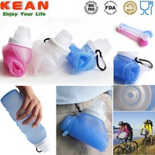Smooth Soft Surface Silicone Bottle, silicone water bottle with Suction nozzle