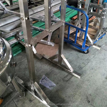 SS304 Custom extraction rack with pipe clamp and wheel