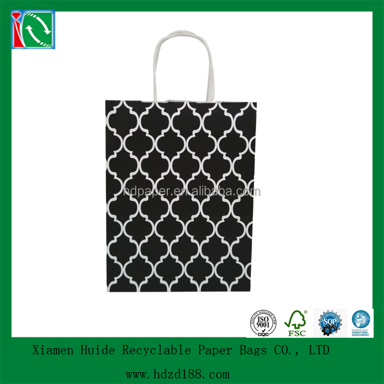 2015 hot sale supermarket fancy paper gift bag