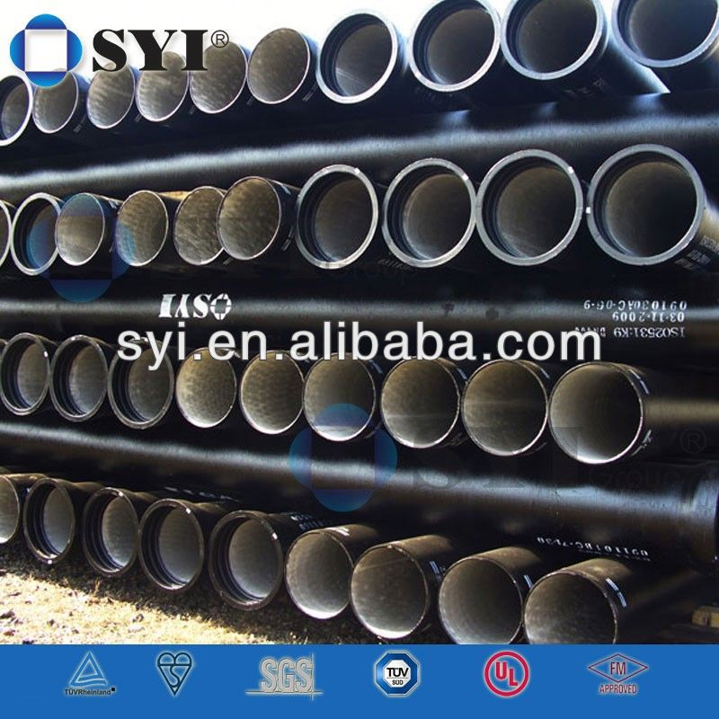 ISO2531 Ductile Iron Pipes with Coat Spray Zinc Coating