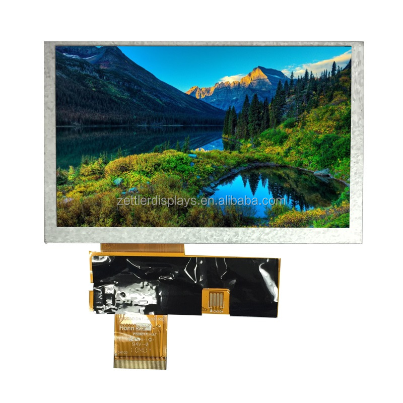 5 inch tft lcd display with full viewing angle 80/80/80/80, RGB interface