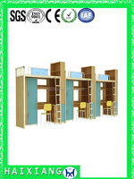 latest wooden aparment bed dormitory bunk bed HXDM022