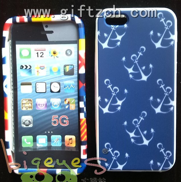 Colorful printing Silicone cell phone case for iphone 5