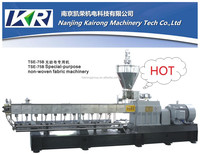 nanjing kairong Twin screw extruder plastic granulator for masterbatch extrusion