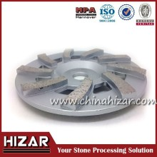 High frequency welded diamond double cup grinding wheel for concrete, stone