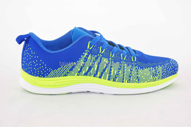 Flyknit rainbow colored 3D upper sports shoes running shoes