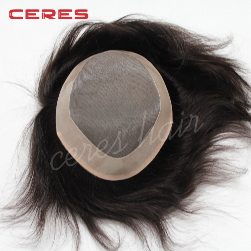 cheap price all sizes in stock real virgin european human hair mono base men toupee