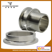 Stainless Steel Bulkheaded Fittings Tri Clamp to BSP/ NPT Thread Adapter
