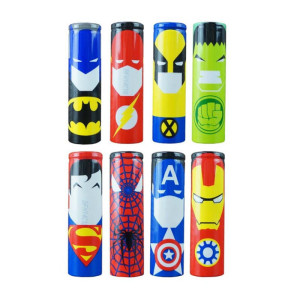vape Superhero skin wraps for e cigarette 18650 battery wrap