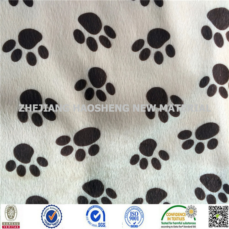 "Velboa Faux Fur Brown Dog Paw Animal Print Fabric 60"" Sewing Poly Reliable Factory"