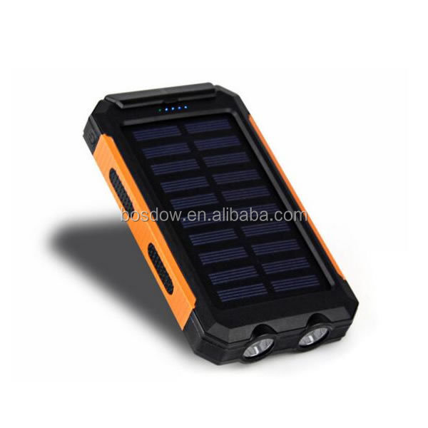 BS-100C New coming Promotional compass Solar Power Bank charger battery 10000mah laptop solar charger