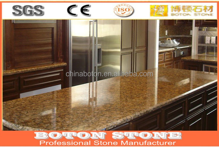 China Natural Granite Stone Prefab Kitchen Countertop Granite Bar Counter Stone Island Benchtop