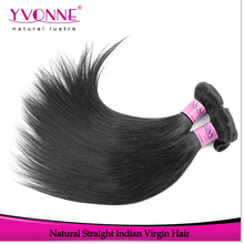 Wholesale top quality straight indian human hair weaving