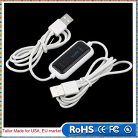 480Mb/s USB 2.0 Laptop PC To PC Online Data Link File Transfer Cable Bridge