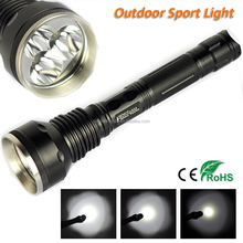 Wholesale Most Powerful LED Flashlight 5000 Lumens Aluminum Alloy 3 CREE XML T6 LED Torch 818