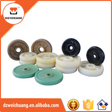 Natural color Nylon/PE plastic wheel