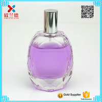 60ml women parfum bottle diamond shape empty glass perfume bottle with sprayer wholesale