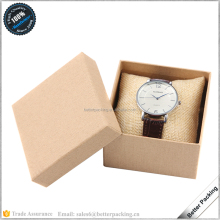 JBP346W Retail Cheap Biege Kraft Paper Pillow Watch Packaging Box