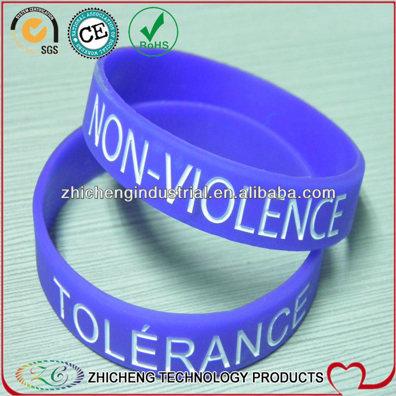 Hot sale silicone bracelet wristband all colors available