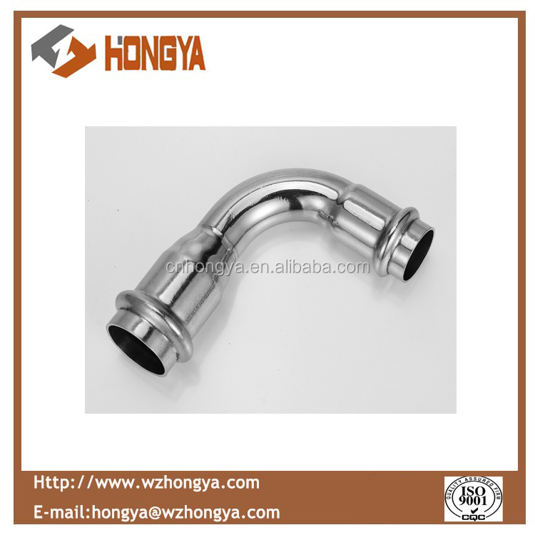 Stainless steel 90 degree elbow press fitting
