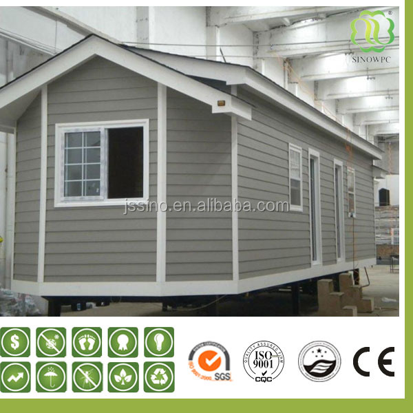 wood plastic composite wall siding with lower thermal expansion properties
