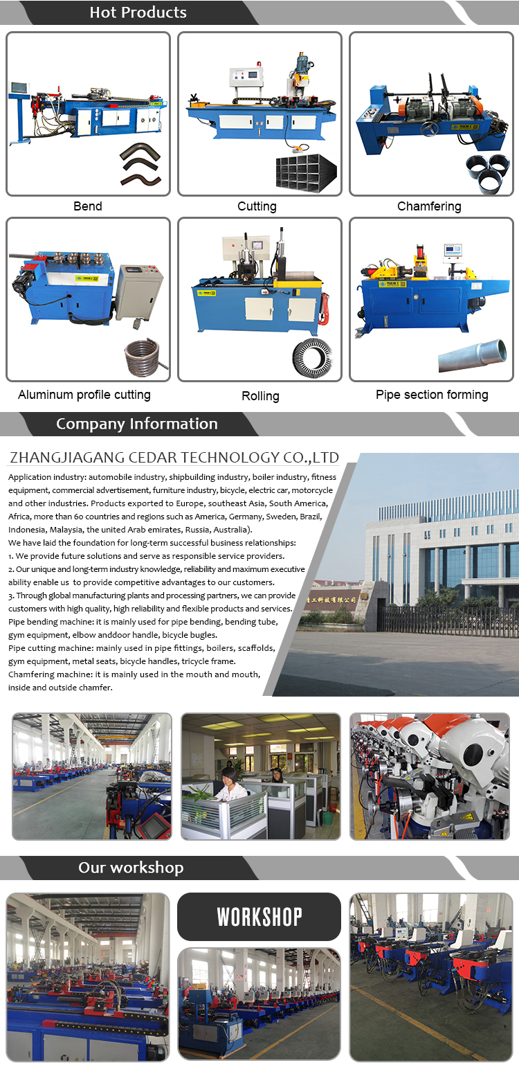 High Quality XS-50AC Double Head Pipe Round Bar Stock Chamfering Machine