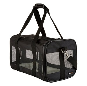 Black Soft-Sided Pet Carrier - Medium