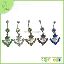 Indian Body Jewelry Unique Designs Angel Wings Cheap Belly Button Rings