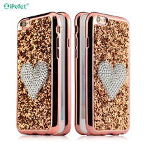 fashion design silicone phone case maker fancy stones couple phone case