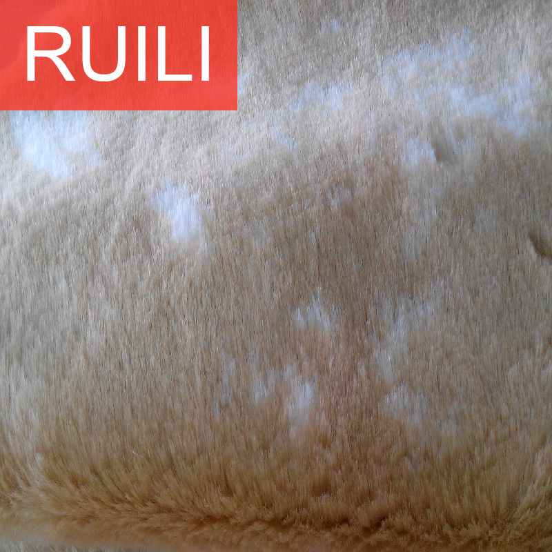 jacquard processing long pile faux plush fur