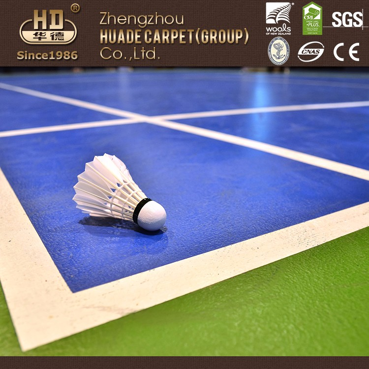 Durable using low price pvc badminton rubber flooring